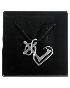 'Heart-Logo silber' Handgearbeiteter Kettenanhänger