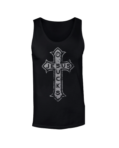 LORD OF THE LOST 'Jesus Sucks (Silver)' Tanktop